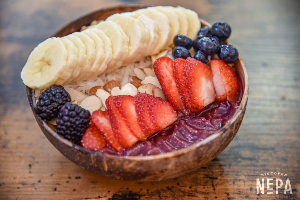 fresh fruits in a bowl