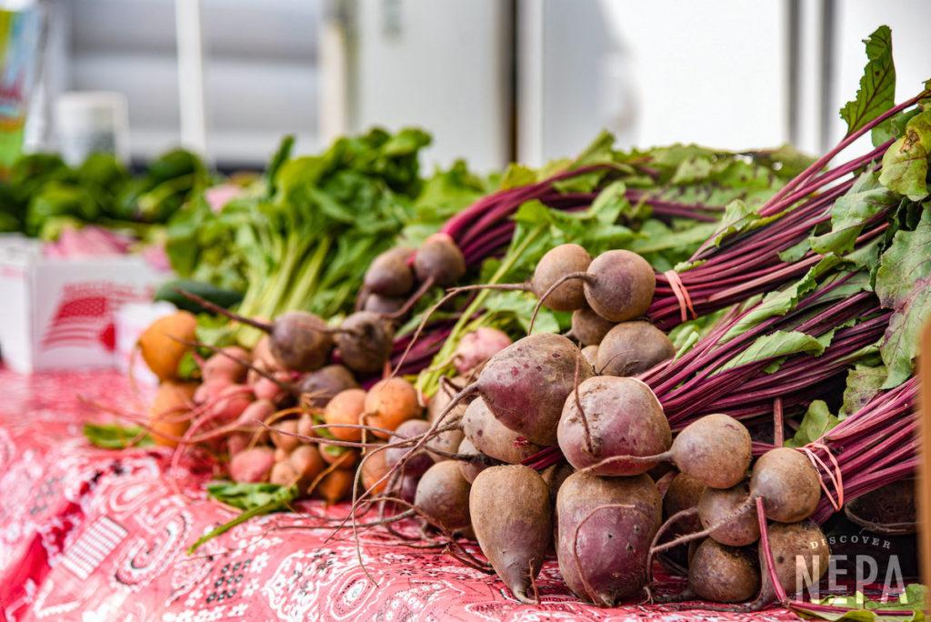 fresh vegetables at a farmer's market