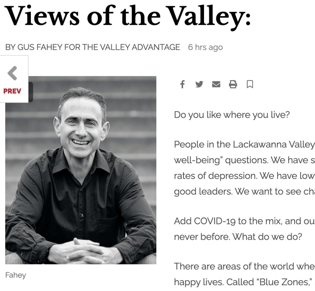 Gus Fahey in The Valley Advantage January 28, 2021